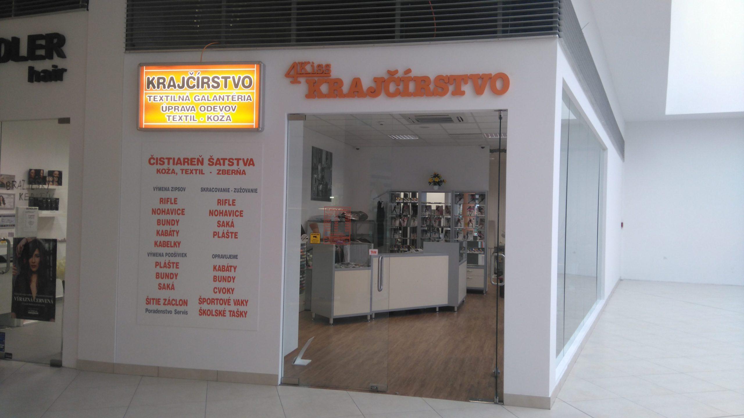 5b709e7ef 4Kiss Krajčírstvo | Shopping palace